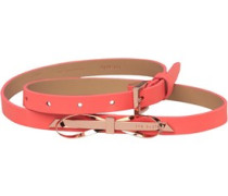 Ted Baker Womens Bowena Skinny Bow Leather Belt Orange