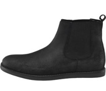 Herren London Chelsea Wax Wildleder Stiefel Schwarz