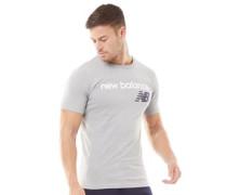 Heritage Logo Grafik T-Shirt Hellmeliert
