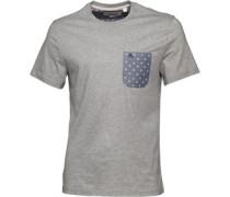 Original Penguin Mens Mini Print Oxford T-Shirt Rain Heather