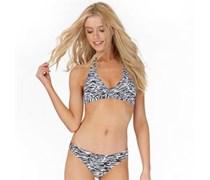 Only Damen Haylee Halter Neck Bikini Weiß