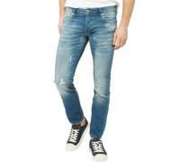 Glenn Dash GE 091 Jeans in Slim Passform Verblasstes