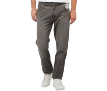 Herren Studding Jeans in Slim Passform Grau