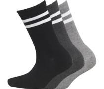 Damen Polka Dot Drei Pack Socken Schwarz