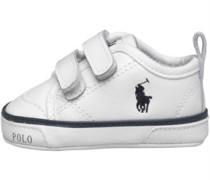 Ralph Lauren Baby Carlisle II EZ Crib Shoe White/Navy