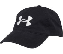 Mens Heatgear Washed Cotton Curved Cap Black