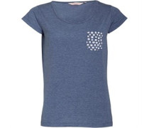 Damen Printed T-Shirt Blaumeliert