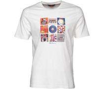 Herren 9 Music Symbols T-Shirt Weiß