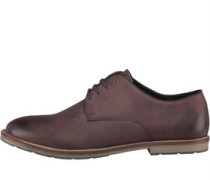 Herren Waxed Derby Schuhe Dunkelbraun