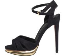 Little Mistress Womens Ankle Strap Peep Toe Sandals Black