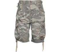 Firetrap Herren Manawar Camo Camo Cargo Shorts Khaki