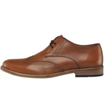 Herren Plain Toe Brogue Schuhe Hellbraun