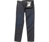 Ben Sherman Herren The Turnmill Slim Leg Dry Rub Jeans in Slim Passform Dry Rub Indigo