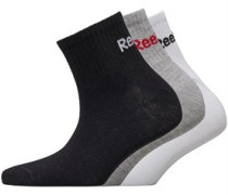 Drei Pack Quarter Socken Schwarz