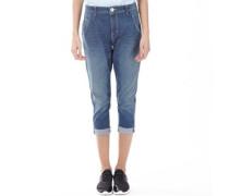 Damen Jeans mit geradem Bein Dark Blue Denim