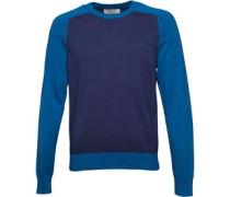 Original Penguin Mens Colour Block Sweater Medieval Blue