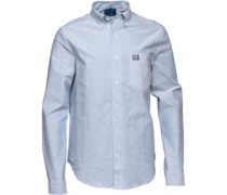 Henleys Herren Oxford Hemd mit kurzem Arm Blau