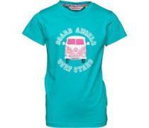 Mädchen Camper Van T-Shirt Türkis