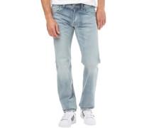 Herren Larkee 0854Y Jeans mit geradem Bein Leicht Steinwasch