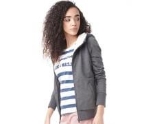 adidas Neo Womens Sherpa Hoody Dark Grey Heather