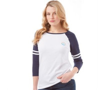 Damen 3/4 Raglan Top White/Navy