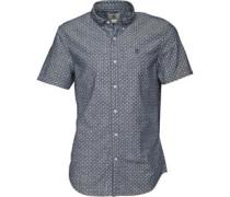 Herren Taunton River Indigo Pattern Hemd mit kurzem Arm Indigo