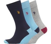 Drei Pack Socken Himmelblau