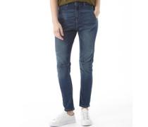 Damen Fashion Jeans mit geradem Bein Medium Blue Denim