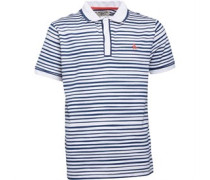 Original Penguin Junior Hand Drawn Stripe Earl Polo Bright White