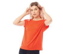 Ava Plain T-Shirt Orange
