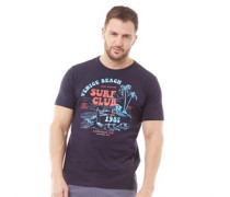Druck T-Shirt Navy