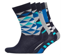 JACK AND JONES Herren Five Socken Mehrfarbig