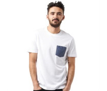 Original Penguin Herren Polka Dot Pocket T-Shirt Weiß