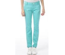Damen Jeans in Slim Passform Minz Grün