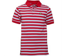 Lyle And Scott Boys Fine Stripe Polo Royal Red