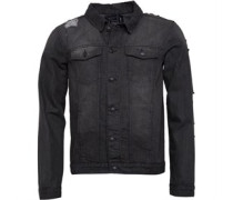 Mens Mjk-Riptide Denim Jacket Dark Grey Denim