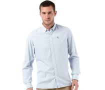 Herren Longpoint Geprüft Hemd mit langem Arm Hellblau