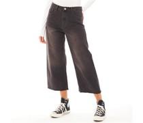 Melody Wide Leg Raw Hem Wide-Leg Jeans Dunkel