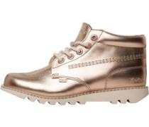 Kickers Womens Kick hi Leather Boot Metallic