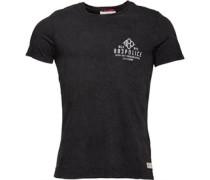 Herren Cracken T-Shirt Schwarz