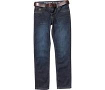 Firetrap Herren Jackson Dyed Jeans in Slim Passform Blau