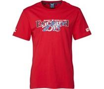 Canterbury Herren England 215 Script Flag T-Shirt Rot