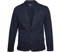 Herren Garment Dyed Blazer Navy