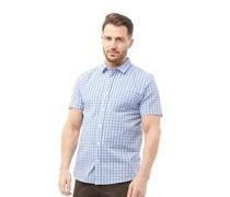 Seersucker Hemd mit kurzem Arm Blau