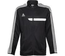 adidas Mens Trio 13 3 Stripe Climacool Full Zip Training Jacket Black/White