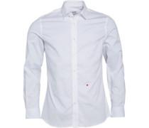 Moschino Herren Hemd mit langem Arm Weiß