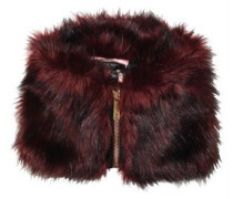 Ted Baker Damen Arba High Neck Faux Fur Collar Mid Schal Rot