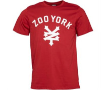 Zoo York Herren Templeton Script Logo Rio T-Shirt Rot