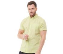 Baumwolle Leinen Hemd mit kurzem Arm grün