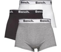 Bench Mens Three Pack Boxers Black/White/Grey